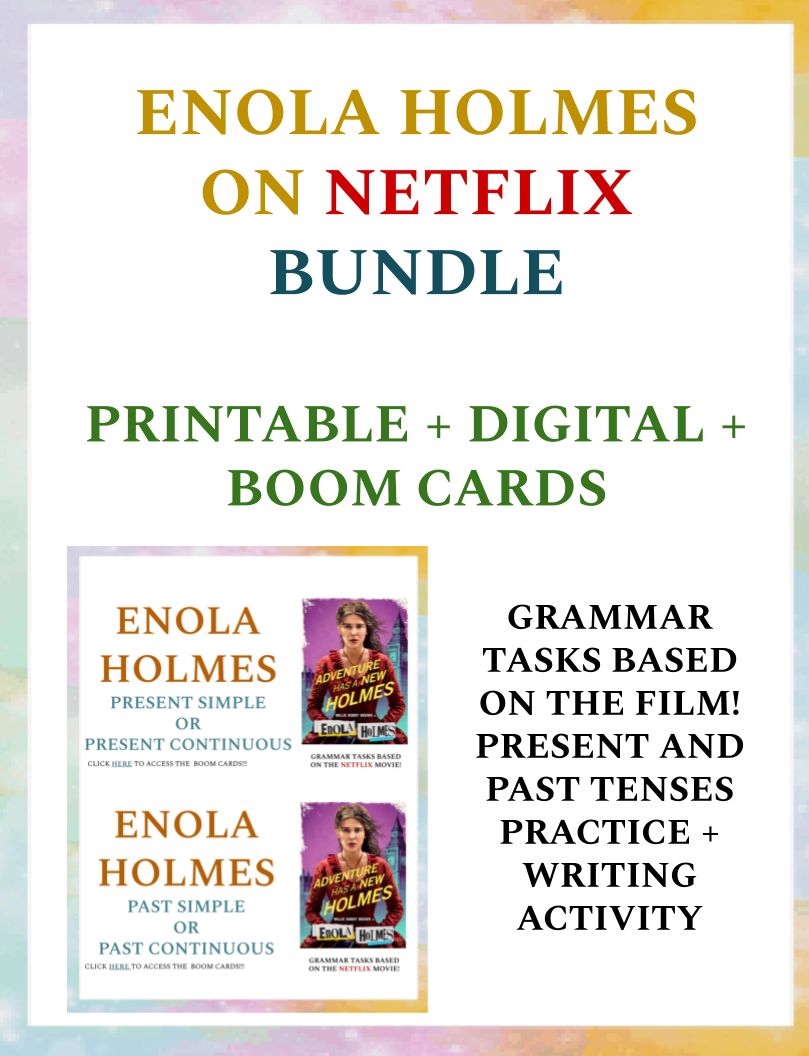 Enola Holmes on Netflix - PRINT + DIGITAL + BOOM CARDS (50%OFF)