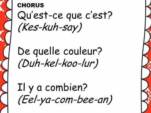 French Christmas Song KS1 Class Song