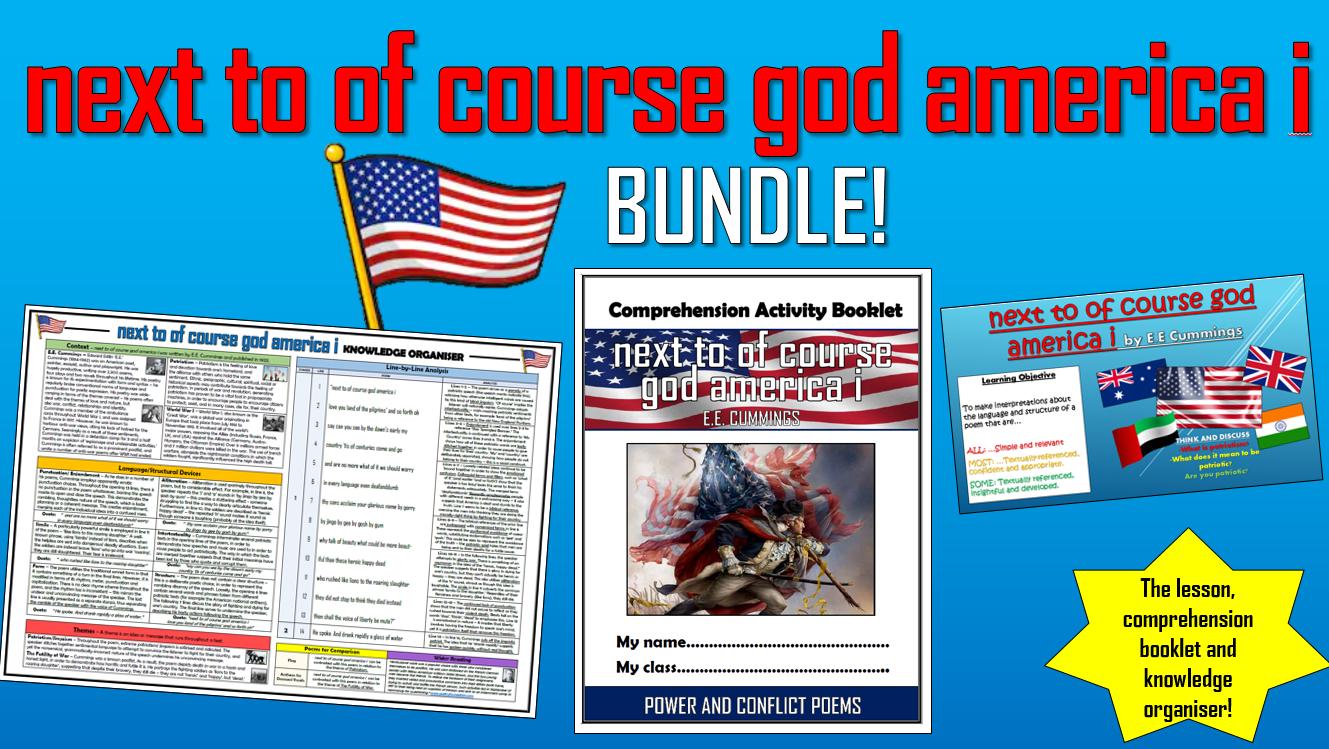 next to of course god america i - E.E. Cummings -  Bundle!
