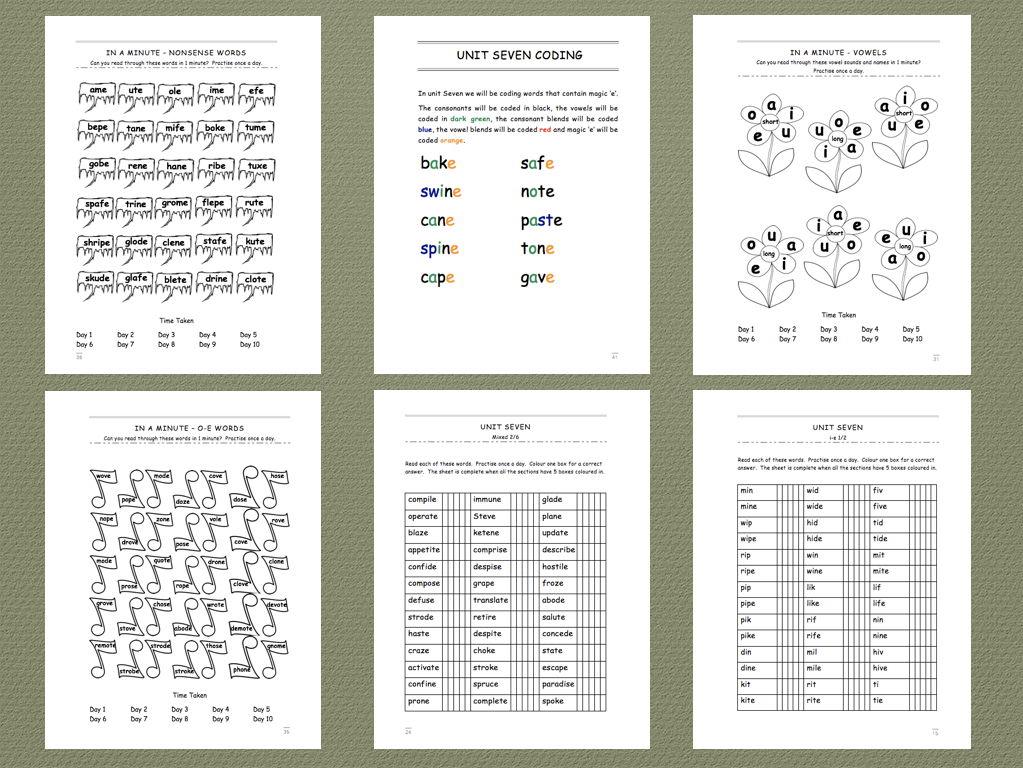 Phonics Intervention Workbooks