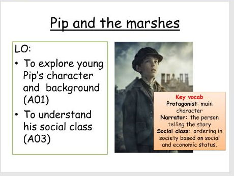 Great Expectations (Joe, Pip, Mrs. Joe + Magwitch lessons)