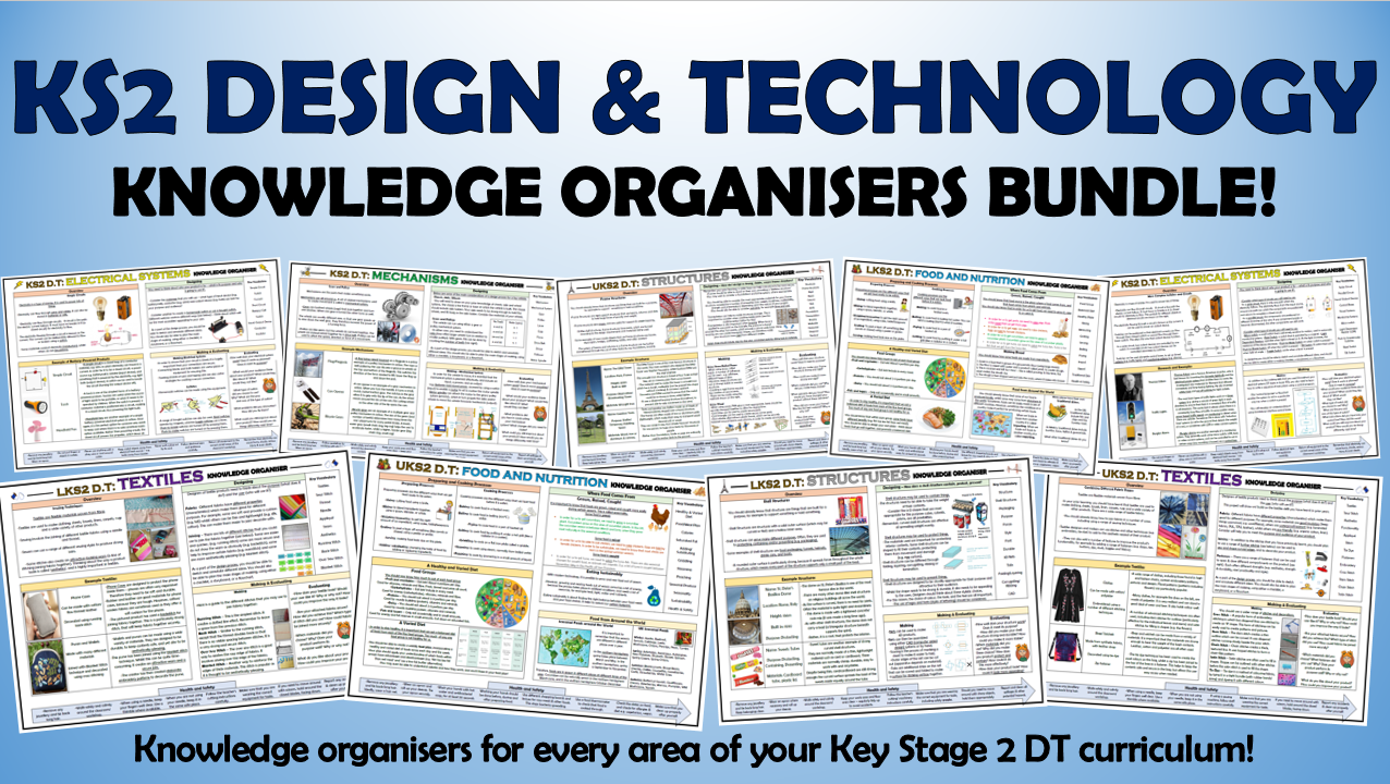 KS2 Design and Technology Knowledge Organisers Bundle!
