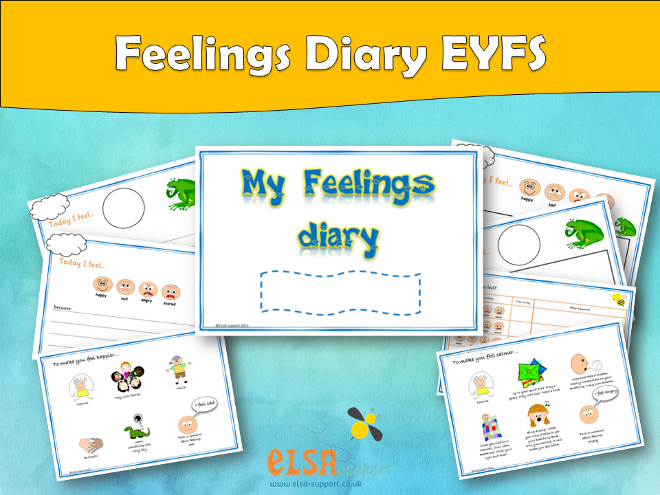 ELSA SUPPORT - Feelings diary Early years, EYFS, EMOTIONS, FEELINGS, EMOTIONAL LITERACY