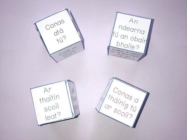 4 Gaeilge Oral Cubes