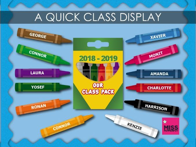 Class Display, Quick Class Display, New Class Display