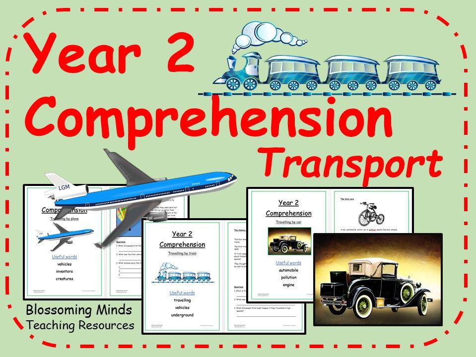 Year 2 non-fiction comprehension - transport bundle