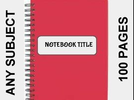 Digital Notebook For Any Subject (100 Pages - Google Slides)