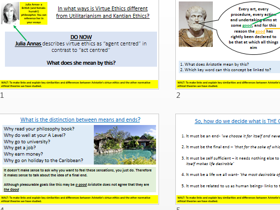 Virtue Ethics - AQA Philosophy