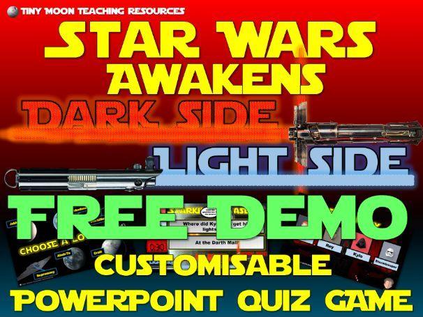 Star Wars Awakens Light Side Dark Side PowerPoint Quiz Game DEMO