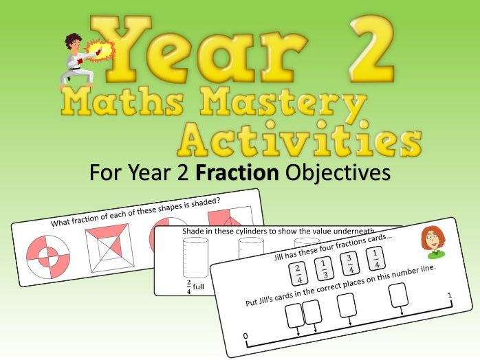 Fractions Mastery Activities – Year 2