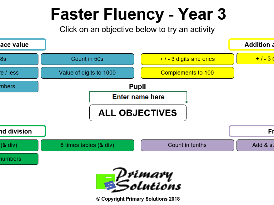 Faster Fluency - Year 3