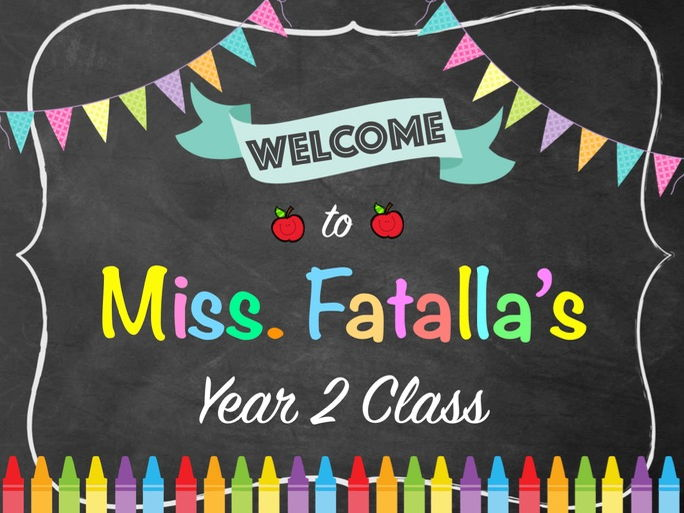 Editable Class Welcome Sign Display