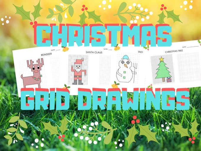 Christmas Grid Drawings