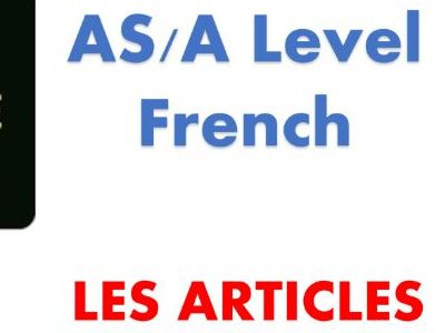 The articles_French AS/A Level