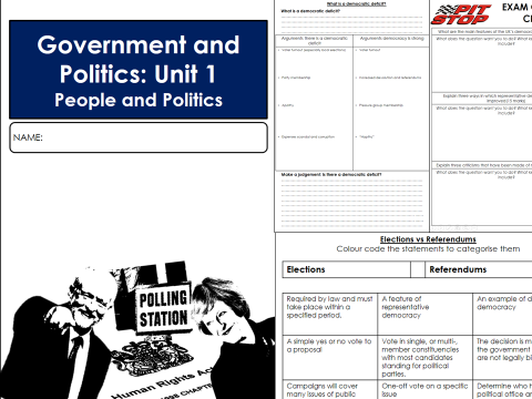 Edexcel Government and Politics Unit 1 - People and Politics Revision Guide