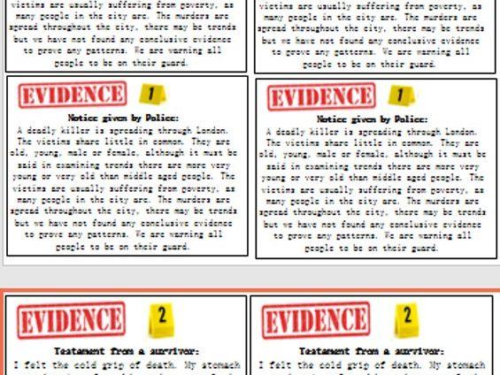 John Snow & Cholera Investigation Lesson