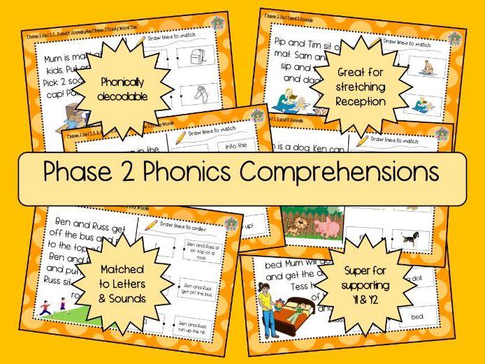 Phase 2 Phonics Comprehension Texts - 6 Texts