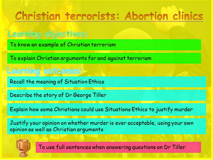 Extremism: Christian terrorists