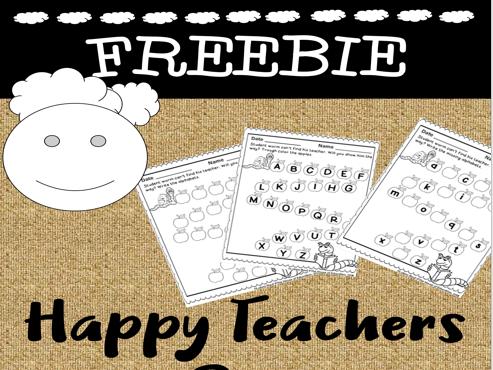 Happy Teachers Day Freebie (worksheets)