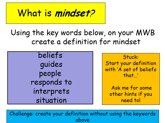 Edexcel Psychology (9-1) GCSE New Spec Unit 2 Lesson 7 - Dweck's Mindset