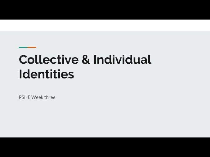 Collective & Individual Identities - Gendered Spaces