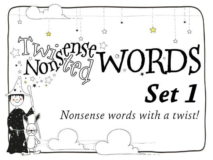 Twisted Nonsense Words: Set 1: Phonic Alien Word Challenges