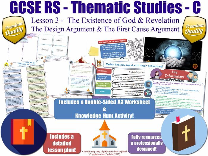 The Design Argument & First Cause Argument [GCSE RS - Existence of God & Revelation - L3/10] Theme C