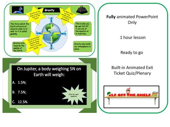 Forces - Weight and Mass KS3 - Animated PowerPoint Only