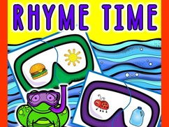 SUMMER RHYMING WORDS ACTIVITY: SUMMER LITERACY CENTER
