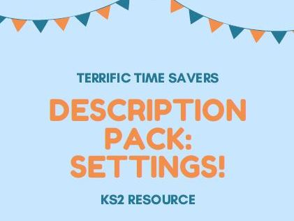 Describing places & settings - word mats
