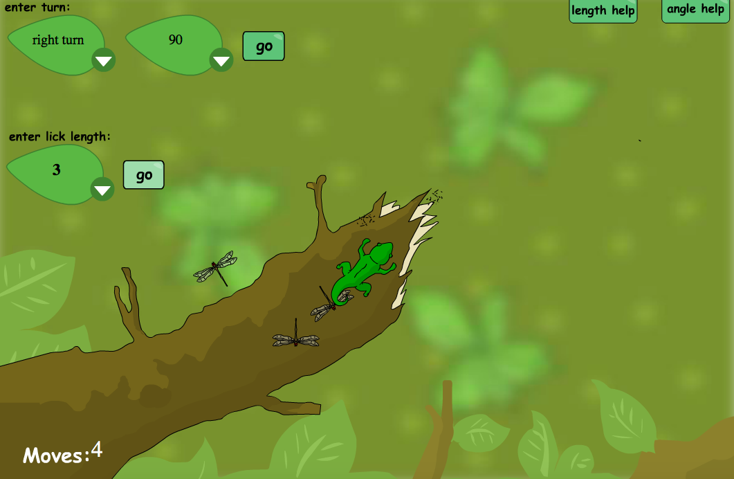 Chameleon Catcher Interactive Game - KS1/KS2 Geometry