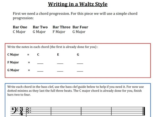 A complete guide to understanding and composing music in a Waltz style