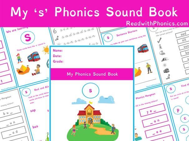 's' Sound Phonics Bundle 36 Pages | Phonics Resources | Phonics Worksheets | CVC Words | EYFS
