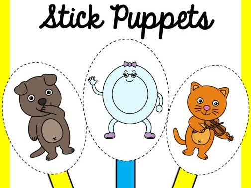 Hey Diddle Diddle Nursery Rhyme Stick Puppets