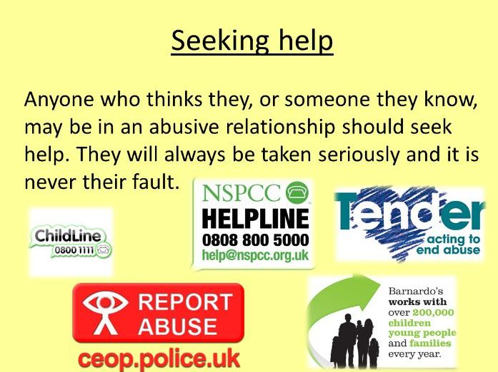 Healthy Relationships SOW and resources