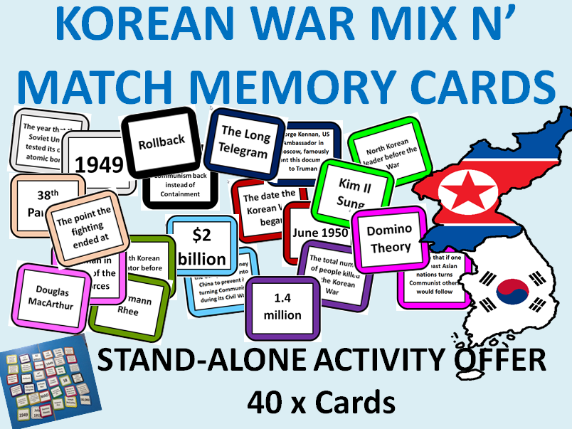 Korean War mix & match - activity