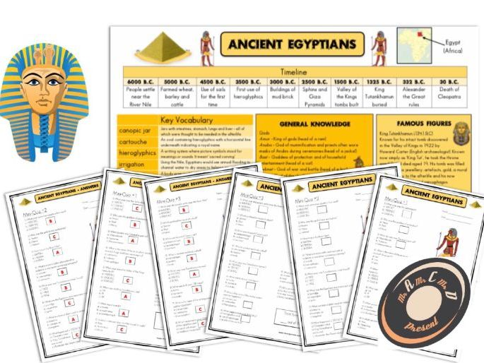 Ancient Egypt - Knowledge Organiser and Mini-Quizzes