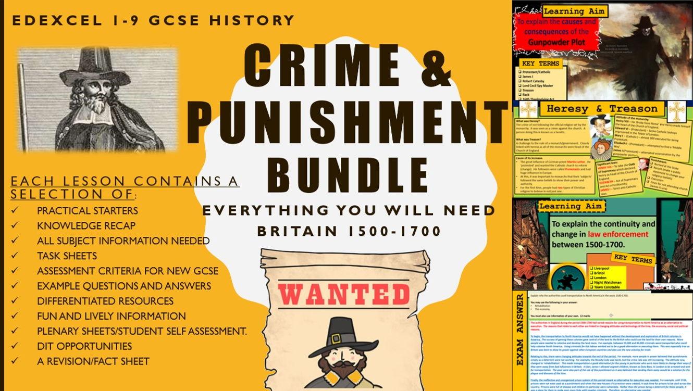 Gcse History Edexcel 1 9 Crime And Punishment 1500 1700 Lesson