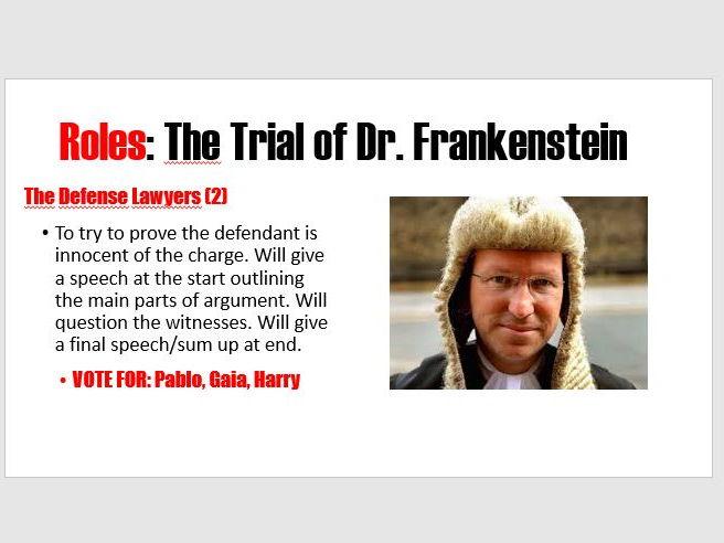 The Trial of Dr. Frankenstein KS3
