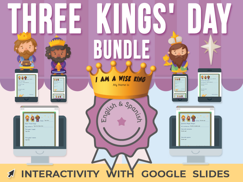 Three Kings' Day Activity - Google Slides BUNDLE