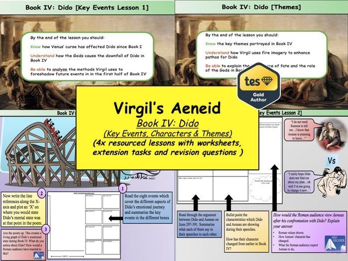 Virgil's Aeneid Book IV: Dido (Key Events, Characters & Themes)