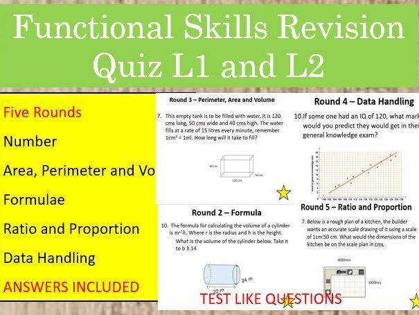Functional Skills Maths Revision Quiz
