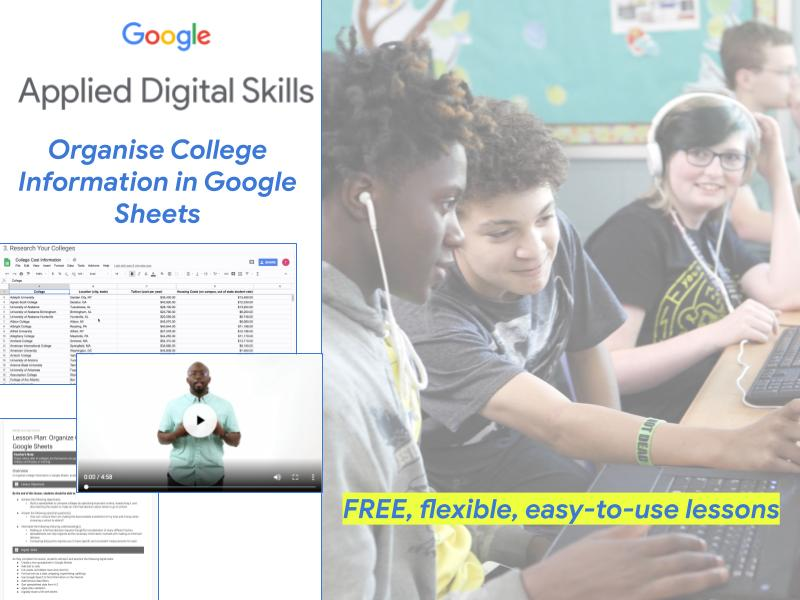 Organise College Information in Google Sheets