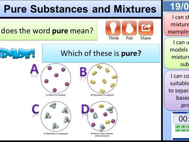Pure Substances and Mixtures KS3 Activate