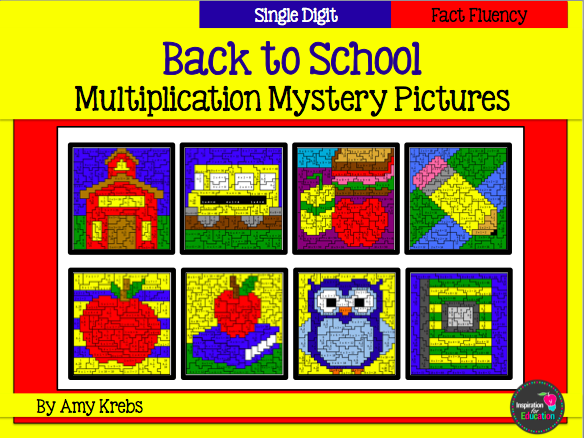 Back to School Multiplication Mystery Picture