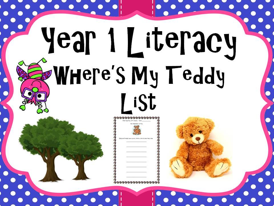 Year 1 Literacy - 'Where's my teddy' List