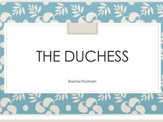Analysis of The Duchess score - Portman