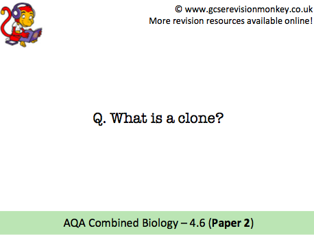 Revision Cards - AQA Combined Biology 4.6