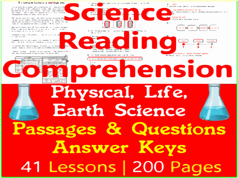 Science Reading Comprehension Passages & Questions | Bundle | Grade 3-4