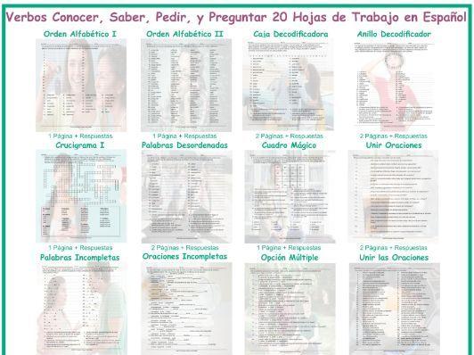 Verbs Conocer Saber Pedir And Preguntar 20 Spanish